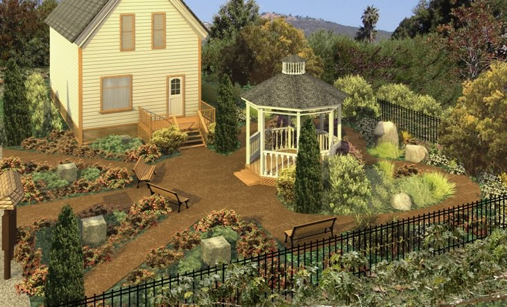 Original rendering of the native garden